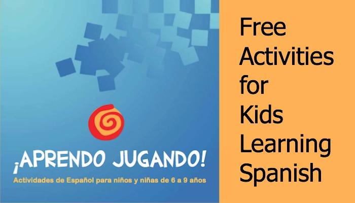 Activities for teaching children Spanish.