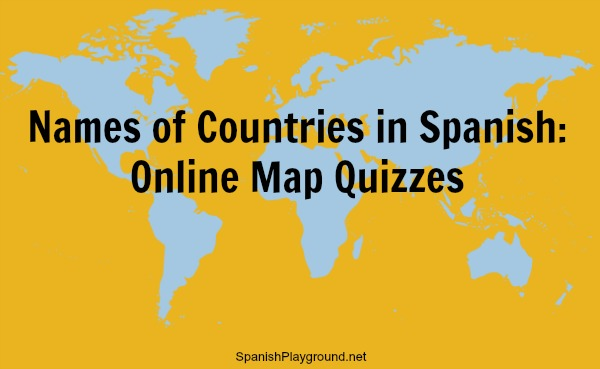 Online map quizzes help kids learn the names of countries in Spanish.