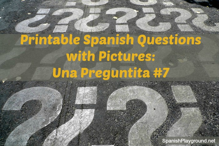 A set of printable Spanish questions for kids.
