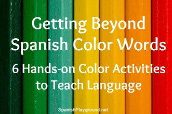 Kids learn Spanish color words with hands-on activities.