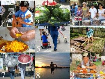 A photo collage to practce Spanish vocabulary for kids.