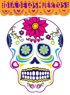 spanish color by number calavera