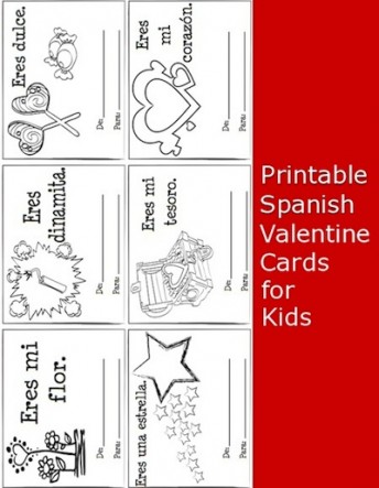 printable spanish valentine cards kids