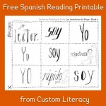 Spanish Reading for Kids: Printable Activity from Custom Literacy