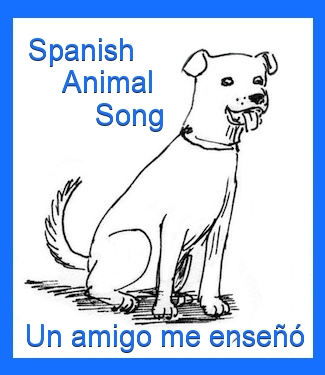 Spanish song teaches animal words to kids.