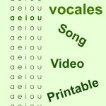Spanish Vowels: Song and Printable Activities