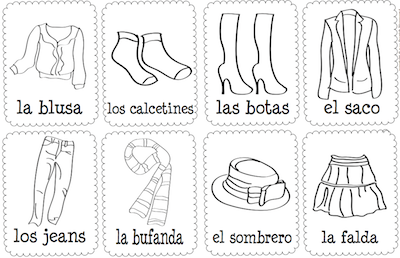 spanish words clothes