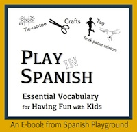 Digital download of ebook with Spanish vocabualry.