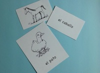 Spanish activties with printable animal cards.