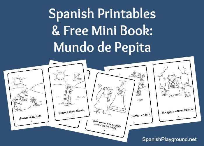 Printable spanish mini books for kids.