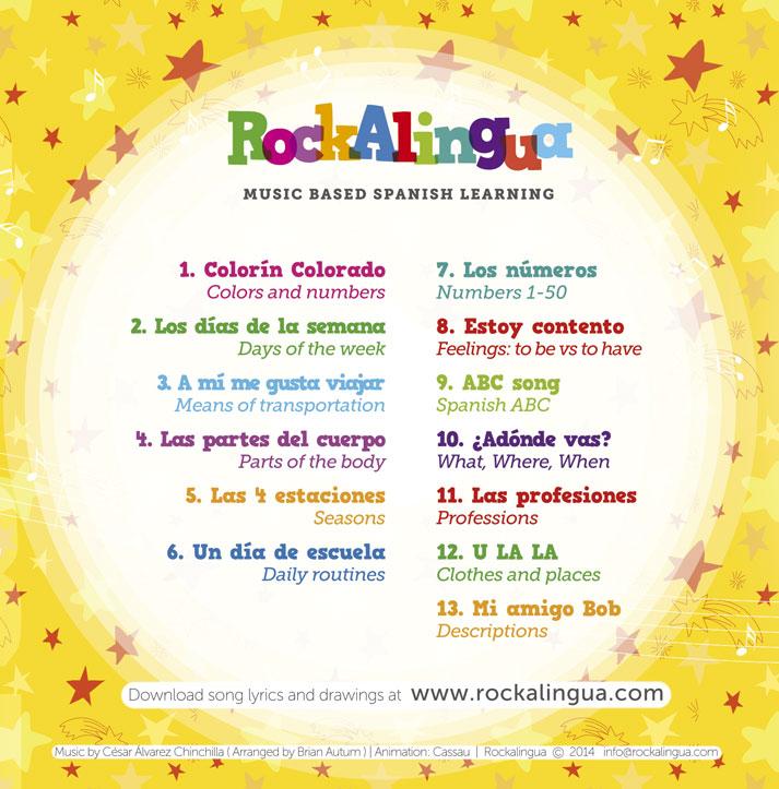 DVD of Spanish music videos for teaching Spanish to kids.