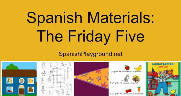 Spanish materials for keeping kids engaged over the weekend.