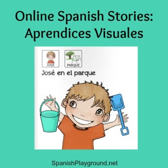 Online Spanish stories for pre-readers, Spanish learners and children with special needs.
