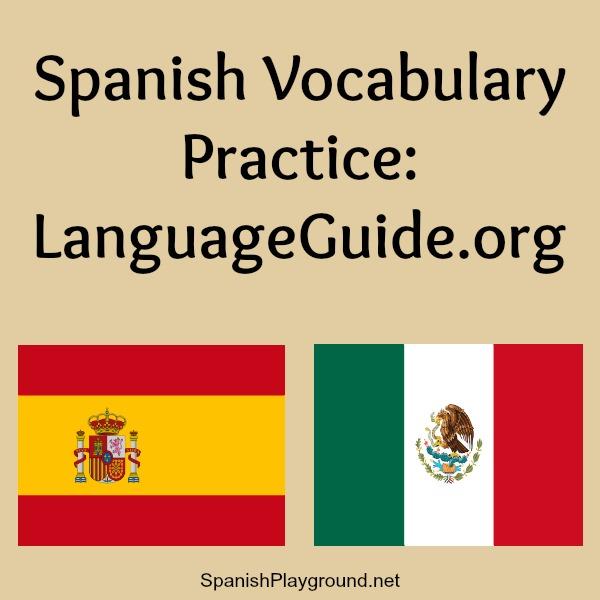 Spanish vocabulary listening and speaking practice.