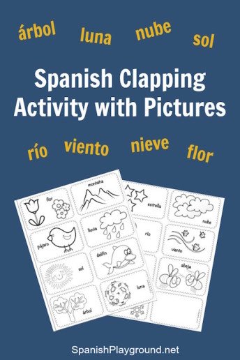 Spanish syllables in a fun clapping game for kids.