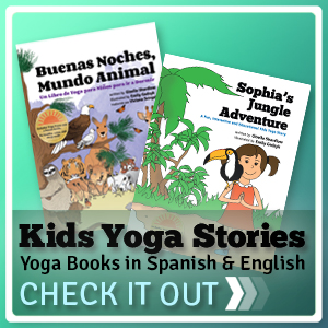 Yoga stories to teach kids Spanish.