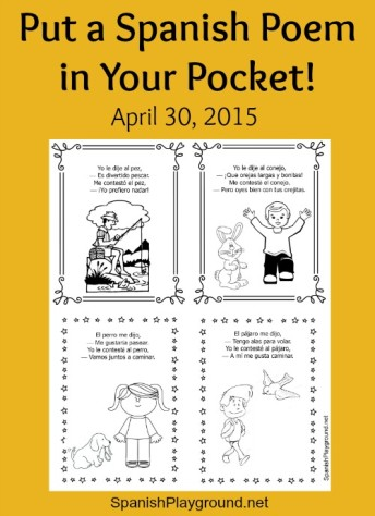 Poem in Your Pocket Day is a perfect occasion for kids to share Spanish poems.