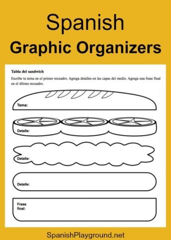Spanish graphic organizers help kids master vocabulary.
