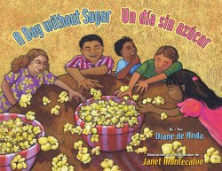 Bilingual picture book with Spanish food vocabulary.h
