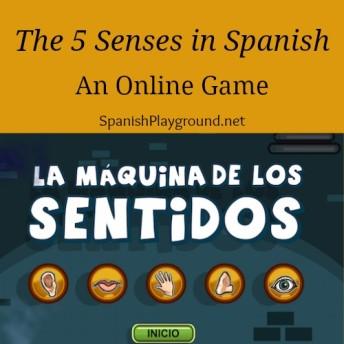 Los cinco sentidos for children learning Spanish.