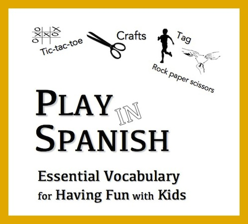 Spanish vocabulary in a printable ebook.