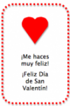 Simple printable Spanish Valentine's Day cards