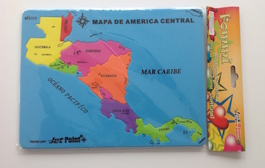 Puzzle Map of Central America - Spanish Playground