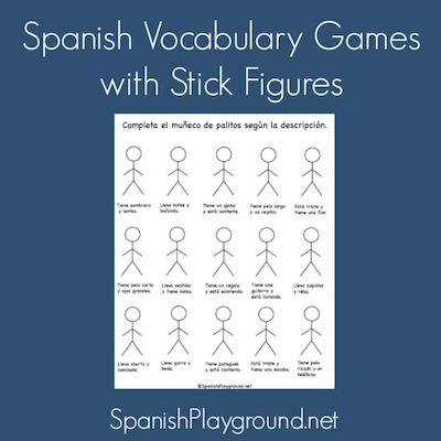 Spanish vocabulary games for kids.