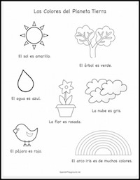 A Spanish coloring sheet for Earth Day.
