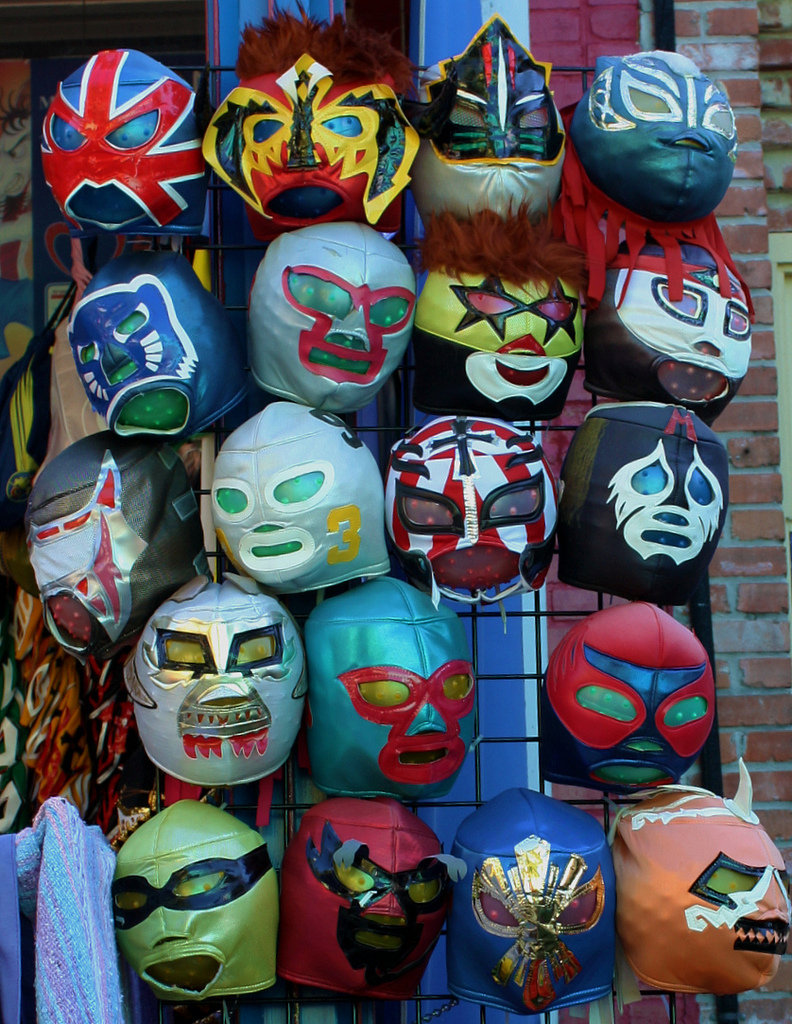 Lucha libre masks show kids the popularity of the sport