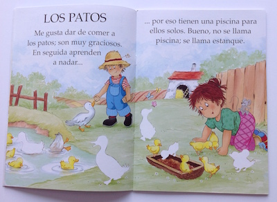 Spanish picture book about the farm