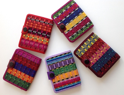 notebooks handwoven cover from Nicaragua