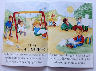 Spanish sticker book about the park