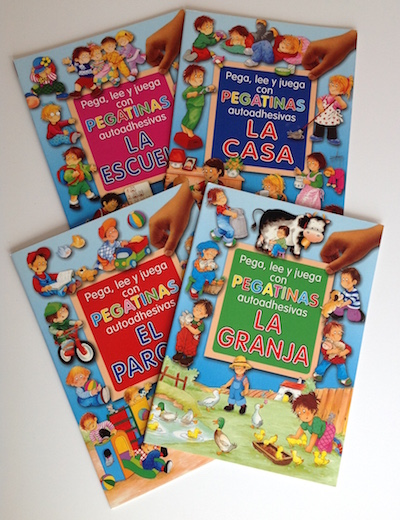 Spanish picture books with stickers